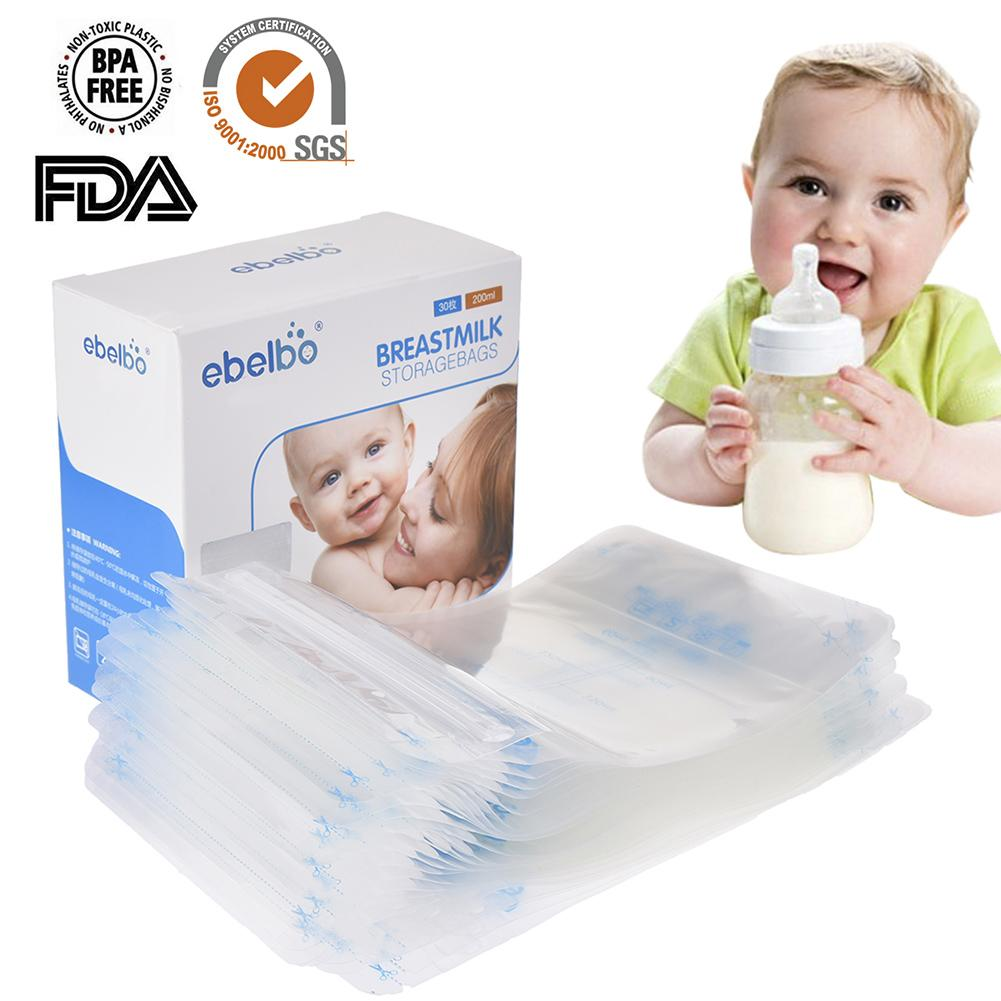 30 PCS /lot Breast Milk Storage Bag Feeding PP Bag Polyethylene Food Grade Maternal Baby Storage Milk Pouch