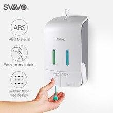 קיר רכוב כפול ידני נוזל סבון Dispenser יד לחיצה מקלחת גוף קרם שמפו מתקן לסבון ידני 550ml * 2