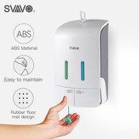 Wall Mounted Double Manual Liquid Soap Dispenser Hand pressing Shower Body Lotion Shampoo manual soap dispenser 550ml*2
