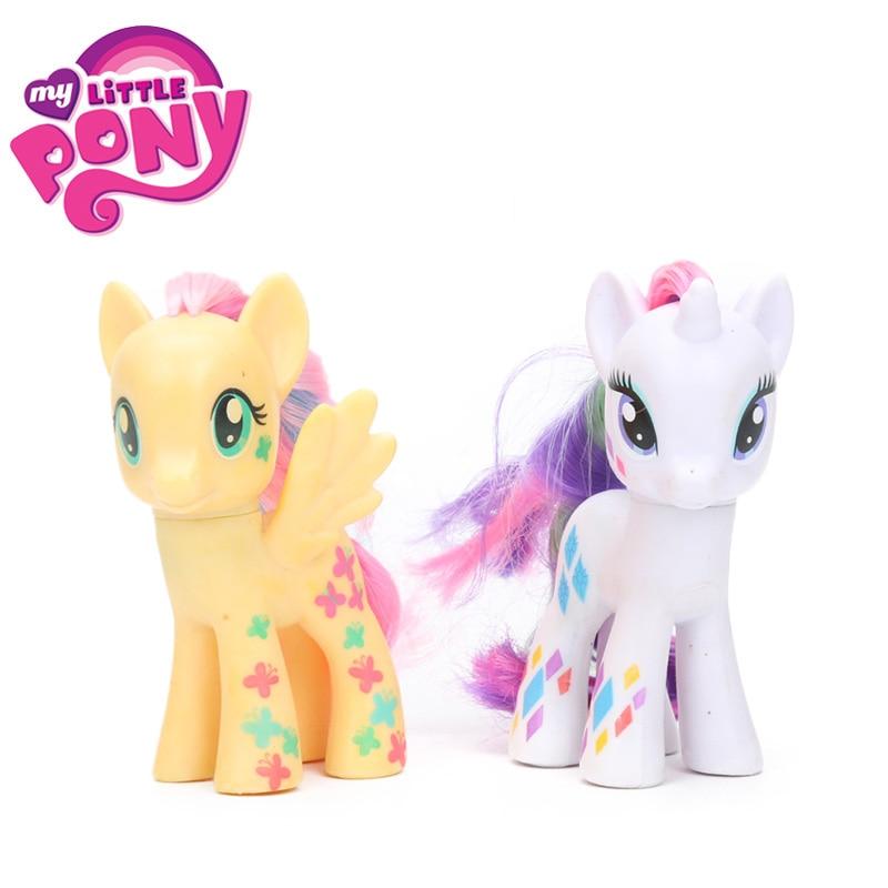 2 шт. 8 см My Little Pony игрушки Дружба Магия Эппл Джек редкость Пинки Пай Каденс ПВХ фигурку Коллекционная модель Куклы