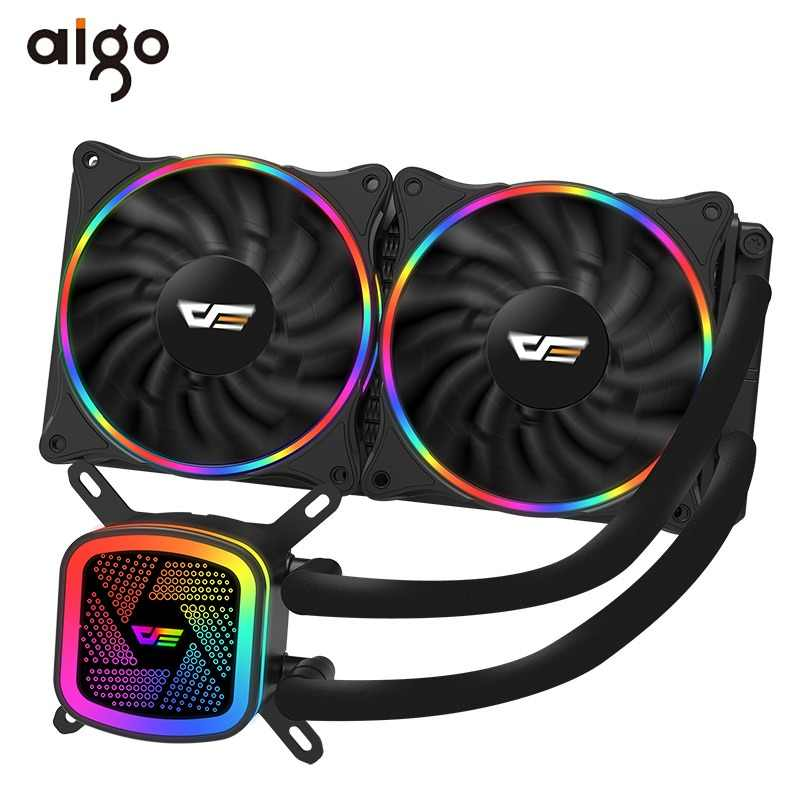 Aigo PC Case Water Cooling Computer CPU Fan T120/240 Water Cooler Heatsink Integrated Water Cooling Radiator Intel/AMD Support