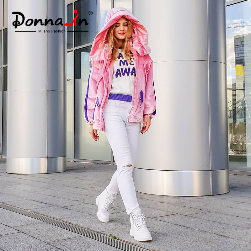 Donna-en Hiver bottes de martin Plate-Forme Des Femmes bottines Talons Blanc Moto Punk Bottines de Fourrure à lacets chaussures de neige pour Dames