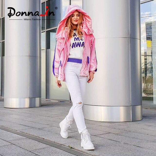 Donna-in Kış Martin Çizmeler Kadın Platformu yarım çizmeler Topuklu Beyaz Motosiklet Punk Patik Kürk Lace Up kar ayakkabıları Bayanlar için