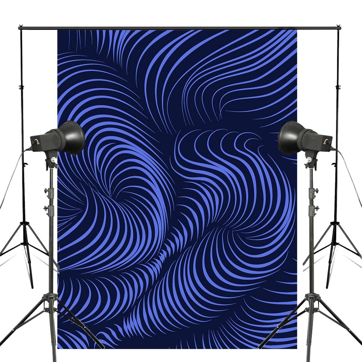 Abstract Style Photography Backdrops 5x7ft/150X210cm Dark Blue Background Art Photo Studio Backdrops Props Photo Studio Accessories    - title=