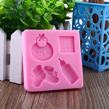 Silicone Mold Baby Decorating-Tools Cake Chocolate Fondant Cute Hand-Bottle Care Series-Shape