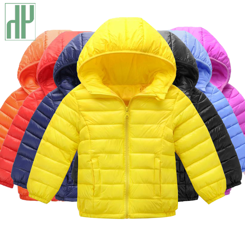 HH Kids Winter Jackets snow wear Hooded Baby Girls Boys Cotton parka down Coats infant Outerwear