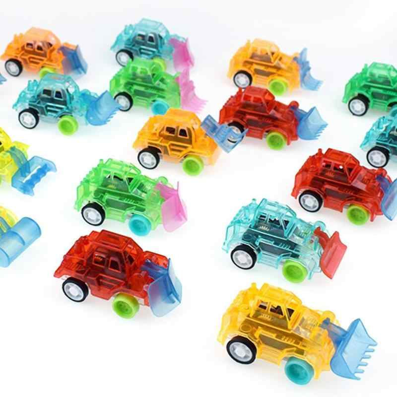 1PC Plastic Transparent Car Toy Pull Back Small Engineering Car Model Kid Toys Birthday Gifts For Children Random Colors