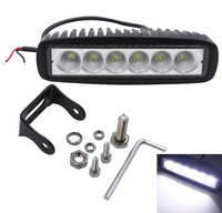 6Inch 18W 6LEDs Work Light Bar Spot Driving Lights Offroad Fog 4WD Car SUV Lamp Waterproof
