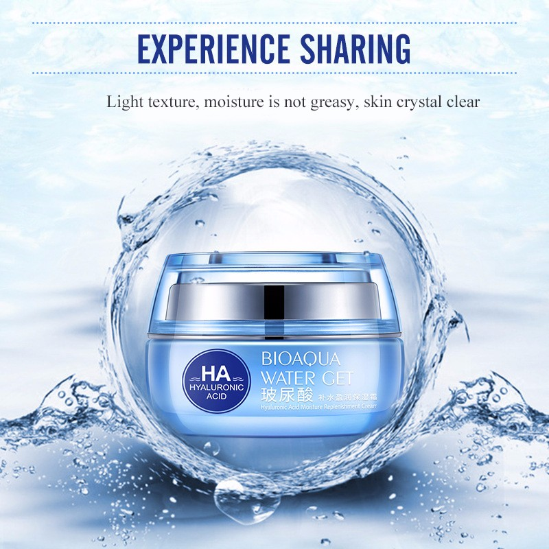 Hyaluronic Acid Face Moisturizer Cream Deep Hydrating Anti-Wrinkle Face Cream Korean Facial Day Cream Cosmetic For Dry Skin 50g 10