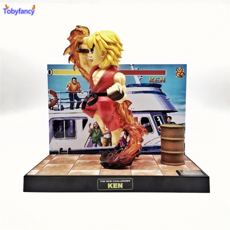 Tobyfancy Street Fighter Figures T.N.C-02 KEN 16CM PVC Model Toys Japan Anime Figures Ken Street Fighter Collection For Kids saintgi street fighter v ken bigboystoys with light action figure game toys pvc 16cm model kids toys collection