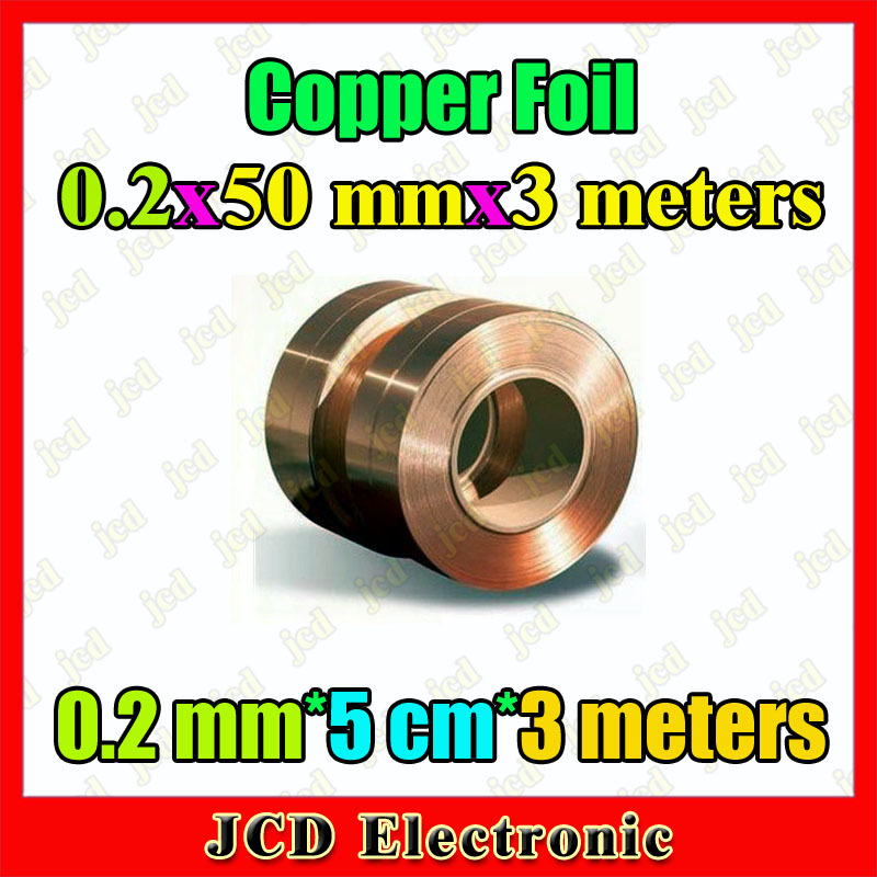 0.2mm*50mm*3meters Copper strip 0.2mm thickness copper foil 50mm wide Copper belt 3meters length Copper Tape 0.2mm*5cm