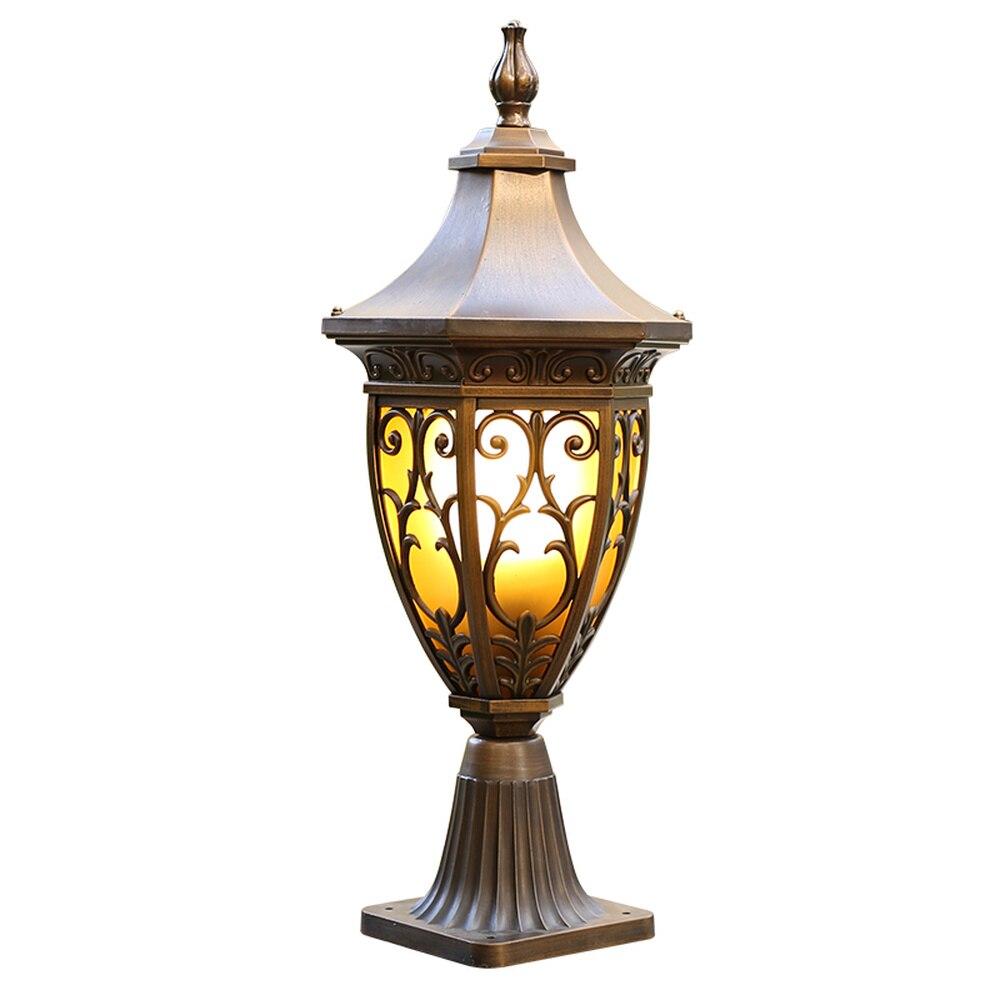 Américain ménage extérieur jardin lampe allée porte applique LED pelouse étanche colonne tête mur phare LU808192