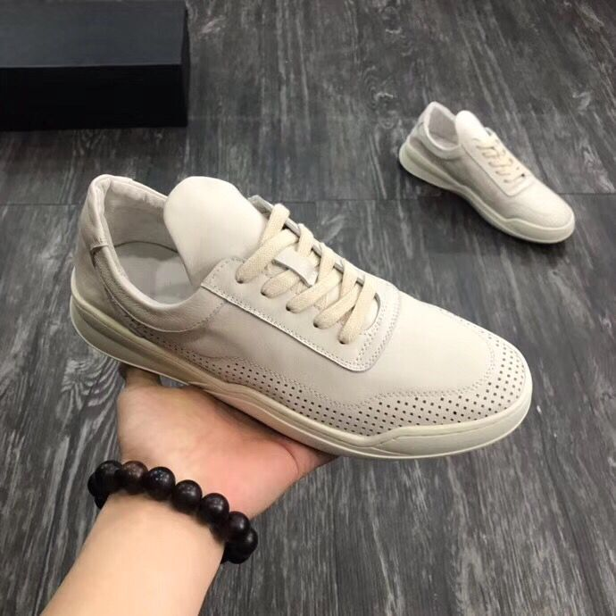 Big sales 2019 four seasons genuine leather men shoes flat lace up punching round toe causal shoes-in Men's Casual Shoes from Shoes    1