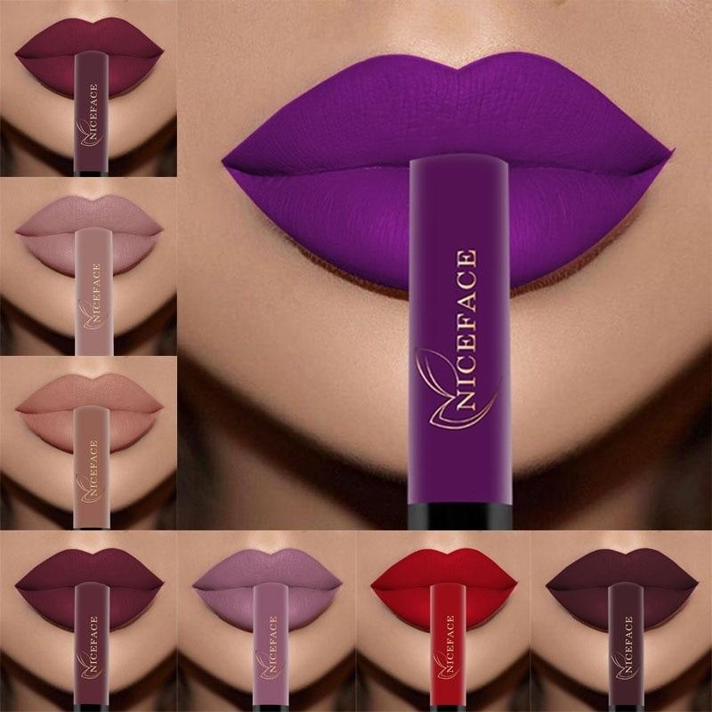 26 Color Liquid Lipstick Sexy Nude Matte Liquid Lipstick Waterproof Lasting Moisturizing Lip Gloss Lips Cosmetics