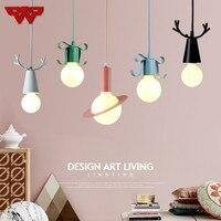 Nordic Modern Minimalist Living Room Lamps Creative Planet Chandelier Bar Cafe Window Macaroon Color Chandelier