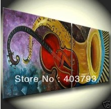 MODERN ABSTRACT HUGE LARGE CANVAS ART OIL PAINTING music Guitar speaker  for decoration free shipping