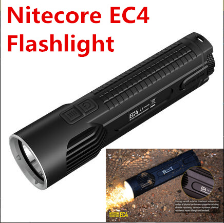 NITECORE EC4 Cree XM-L2 U2 LED flashlight 1000 lumens Search Rescue Portable torch Die-cast Torch nitecore p12 tactical flashlight cree xm l2 u2 led 1000 lumens 4 mode 18650 outdoor camping pocket edc portable torch