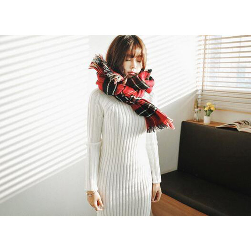 Knit Sweater Dress 2017 Autumn Winter Women Long-sleeved High-necked Slim Sexy Flexible Bandage Knitted Long Dresses JQ1193 6