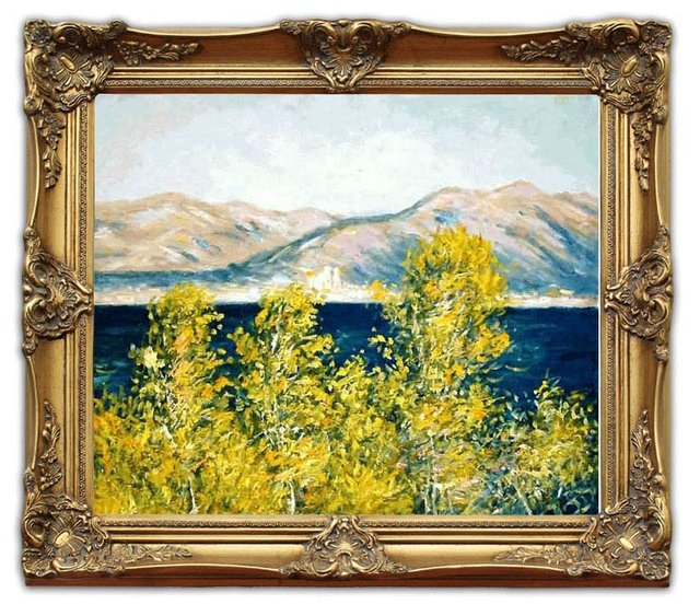 6402 wooden oil painting frames antibesview of the cap monet landscape art 20x24 - Wholesale Art And Frames