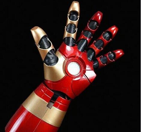 Chaud fer homme MK43 1/1 mobile portable bras gant avec lancement son Laser arme LED ABS Cosplay action figure jouets noël