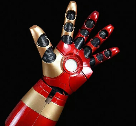Hot Iron Man MK43 1/1 Movable Wearable Arm Glove with Launch Sound Laser Weapon LED ABS Cosplay action figure toys Christmas