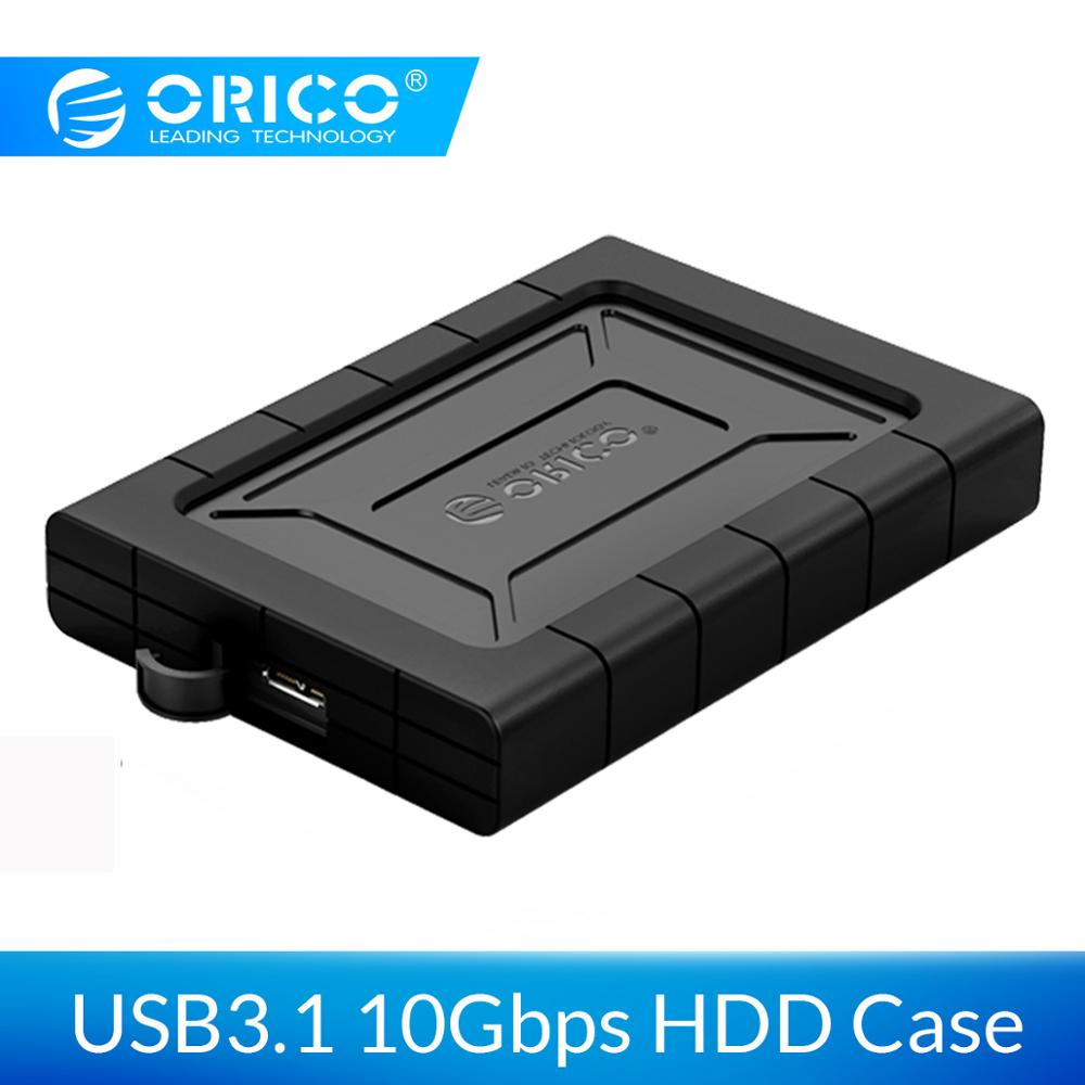 ORICO HDD Case 2.5 Inch SATA To USB 3.1 Gen2 Shockproof Dampproof Dustproof Type C Hard Disk Drive Box External HDD Enclosure