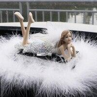 Car Ornament Crystal Diamond Cute Angel Girls Perfume Ornament Automobiles Interior Dashboard Swing For Women Girls
