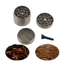 gray 4 pcs Zinc Metal Zinc Alloy Hand Crusher Herb Spice Tobacco Grinder Hot Search(China)