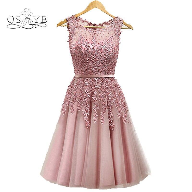 Tienda Online HJZY110 # nuevo encaje hasta tamaño carne Rosa vestido ...