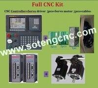 3 חבילת מערכת בקרת ציר CNC למחרטה/מכונת קידוח; חכם בקר תנועת PLC של RETROFITTING, 17bit-ABSOLUTE מקודד