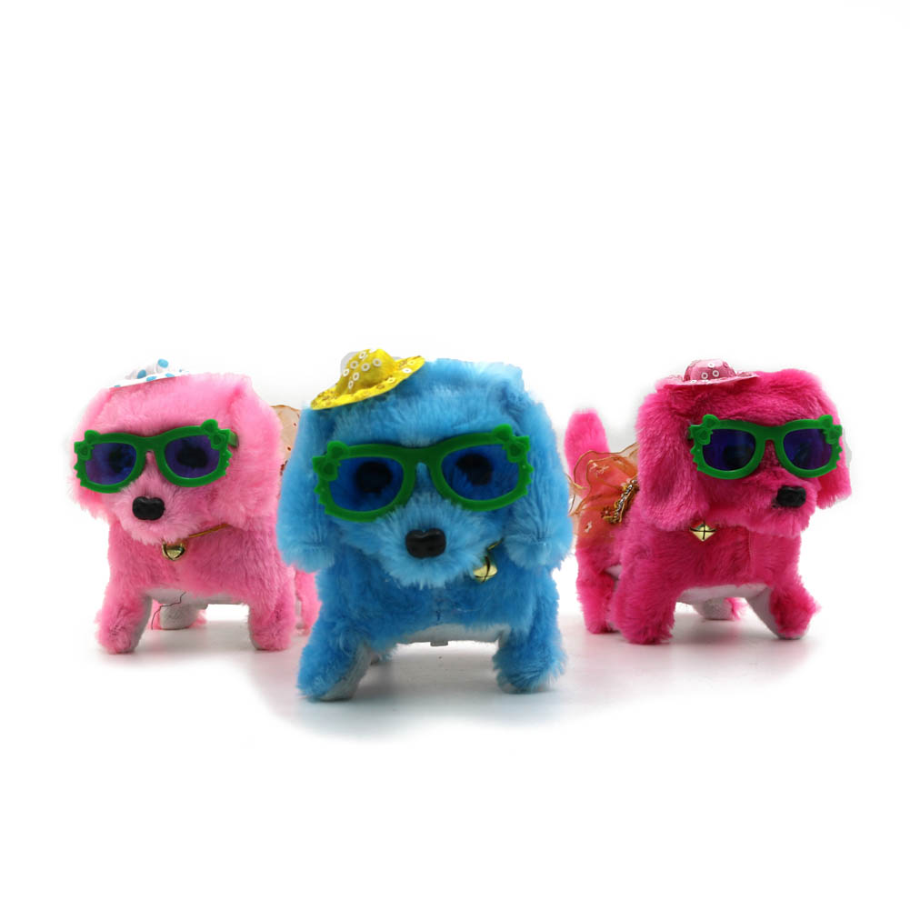 Children Electronic Dog Toy Sound Control Interactive Robot Bark Stand Walk Plush Doll Pets Dogs Toys Kids Gifts @ NSV77