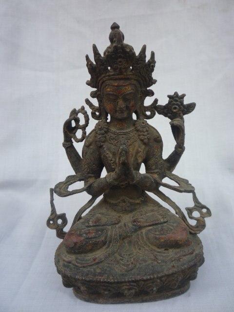Rare distinctif ancienne dynastie Qing bronze vert Tara bouddha Statue, meilleure collection et parure, livraison gratuiteRare distinctif ancienne dynastie Qing bronze vert Tara bouddha Statue, meilleure collection et parure, livraison gratuite