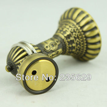 Free Shipping, Wall mounted Antique Brass Door Stopper, suitable for interior doors, Door Holders For Sale, High suction,419g