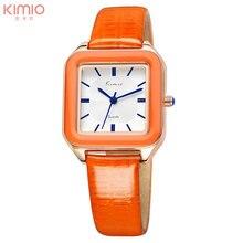 KIMIO mulheres relógios de quartzo relógio de vestido de couro de design de moda senhoras relógios de pulso 2017 marca de luxo relógio feminino presente kw518