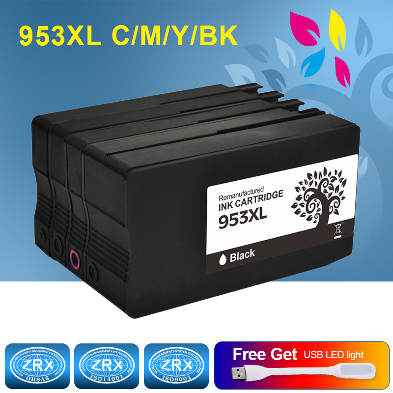 H&BO Re-manufactured Ink Cartridge Replacement For HP953XL For Officejet Pro 7740 8210 8216 8218 8710 8715 8718 8719 8720 8725 hot sales ink cartridge for hp officejet pro 7740 8210 8216 8218 8710 compatible cartridge with bk c m y original cartridge