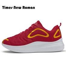 e8a3ebb478 Times New Roman Homens Calçados Casuais Men Sneakers Respirável Moda Calçados  Masculinos Lace Up Sweat-Absorvente Sapatos Mais t.