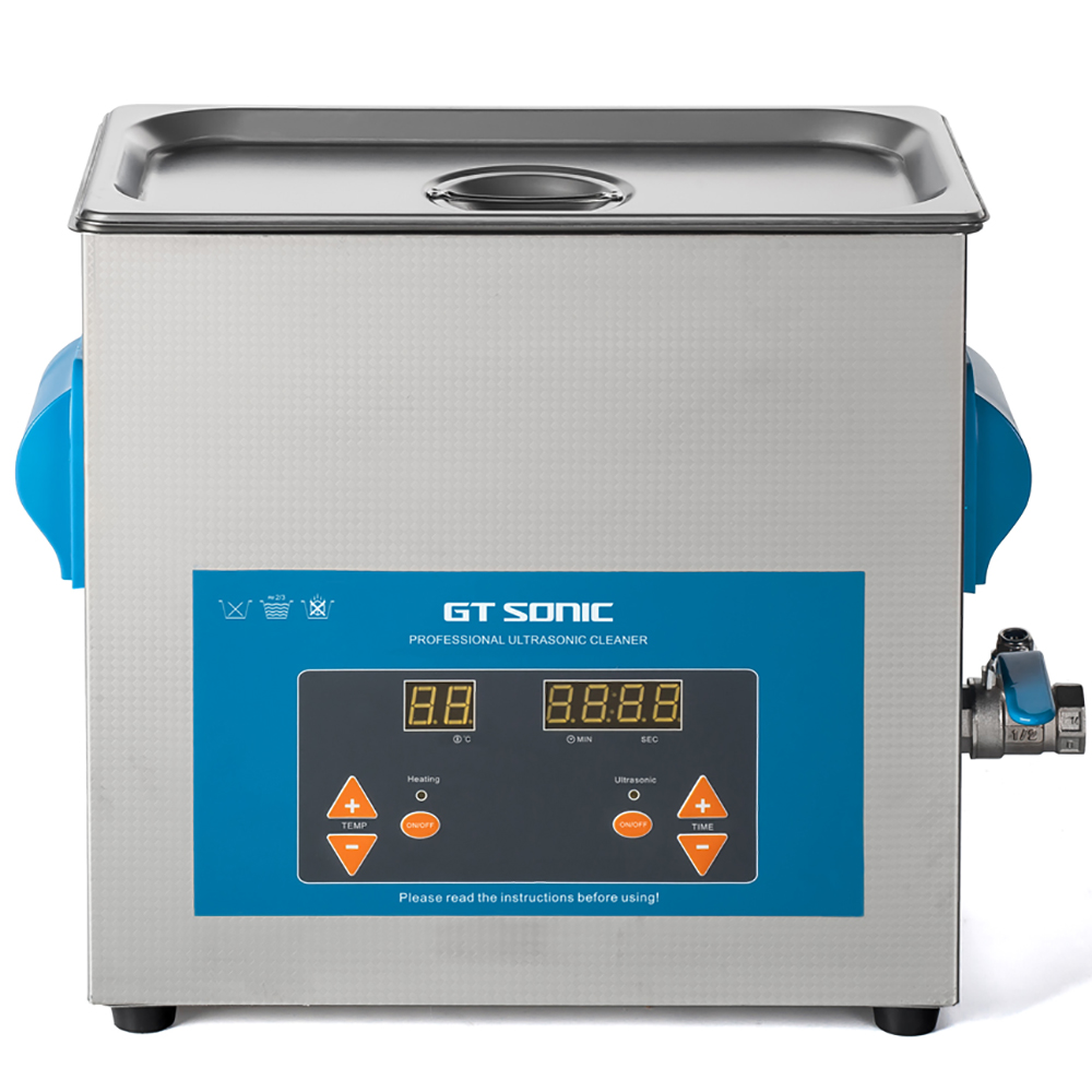 GTSONIC 6L 150W Ultrasonic Cleaner Digital Display Heating Timer Basket Industry Laboratory Hospital Tool Cleaning Bath