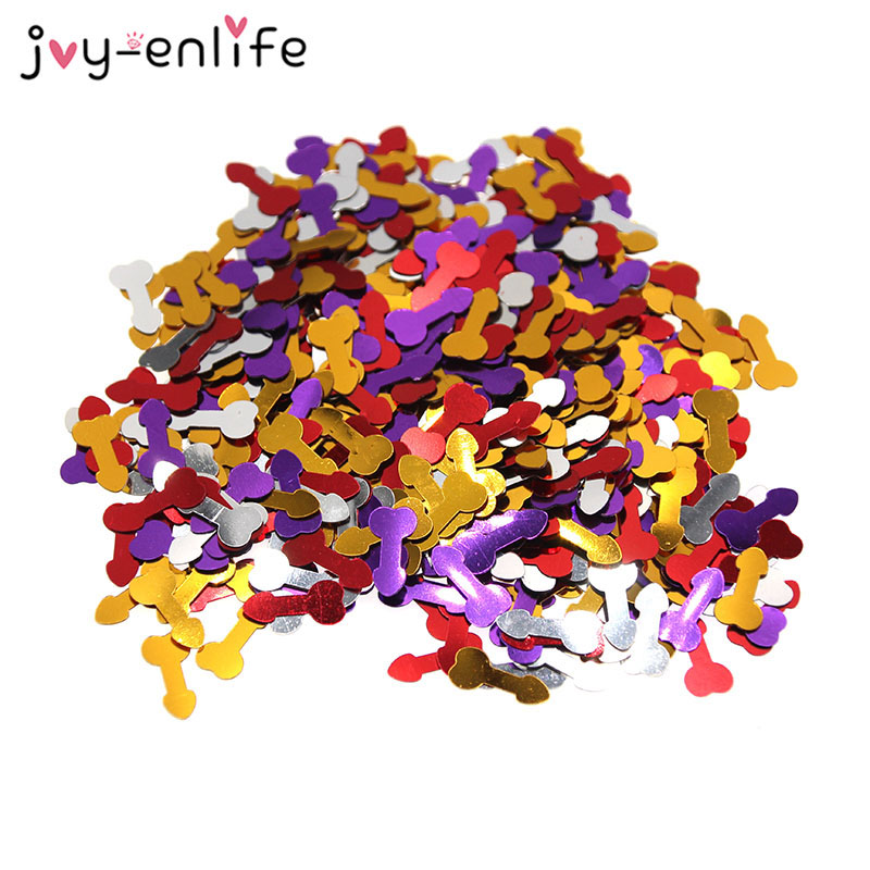 JOY-ENLIFE 1 bag Colorful Romantic Willy Penis Confetti Wedding Party Confetti Table Decor Hen Party Valentine's Day Supplies