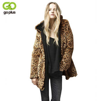GOLPUS 2019 Women Top Winter Artificial Fur Coat Full Sleeve Faux Fur Leopard Coat Lady Faux Fur Outerwear Chaquetas Mujer C4311 - DISCOUNT ITEM  32% OFF All Category