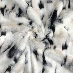 Sztuczne futro kolor biały mleczny żakardowy pluszowy płaszcz ze sztucznego futra