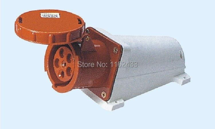 125A 3 P N E 5 broches 220-380 V/240-415 V IP67 145 prise de montage de surface industrielle étanche triphasée