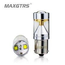 2x S25 1156 BA15S 30 Вт CREE чип с объективом 360 градусов для вождения лампа авто тормозного Резервное копирование источников света белый/красный/желтый