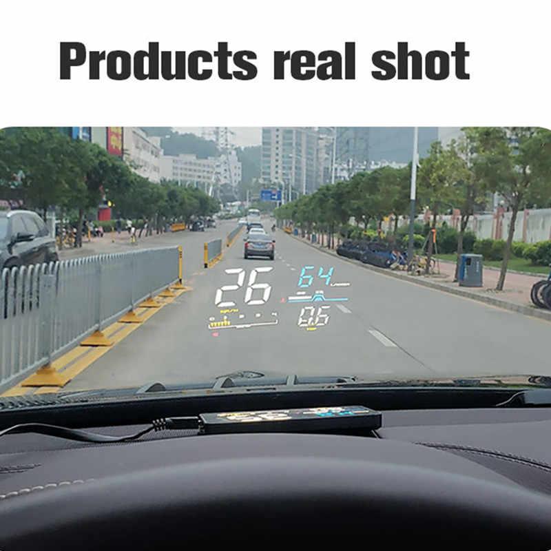 GEYIREN D5000 رئيس متابعة عرض OBD فيلم الذكية عرض عداد السرعة درجة الحرارة أدوات إلكترونية للسيارات سرعة العارض على الزجاج الأمامي