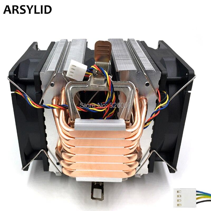 ARSYLID CN-609A-P 3 stücke 9 cm 4pin fan 6 heatpipe CPU kühler kühlung für Intel 4790 karat lga 1151 prozessor kühlkörper kühlung für AMD