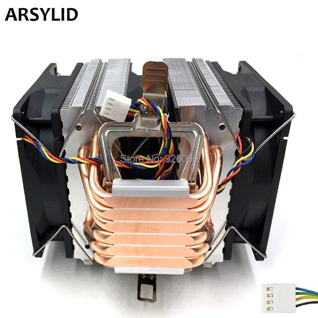 Arsylid Cn 609a P 3pcs 9cm 4pin Fan 6 Heatpipe Cpu Cooler