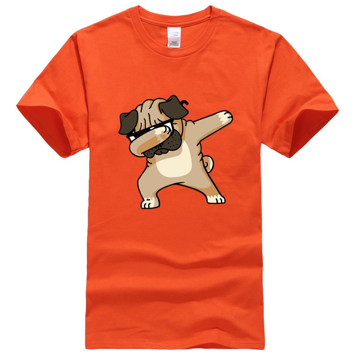 New 2019 Summer Fashion DABBING PUG Tshirt Male Hip Hop Dog Tops Tee   Shirts   Streetwear Funny   T     Shirt   Men Harajuku Men's   T  -  shirts