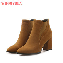09c63ce4b6d6 New Arrival Hot Winter Elegant Beige Women Ankle Boots Sexy Lady Wedding Shoes  3 inch Heels WK82 Plus Big Size 11 32 43 47