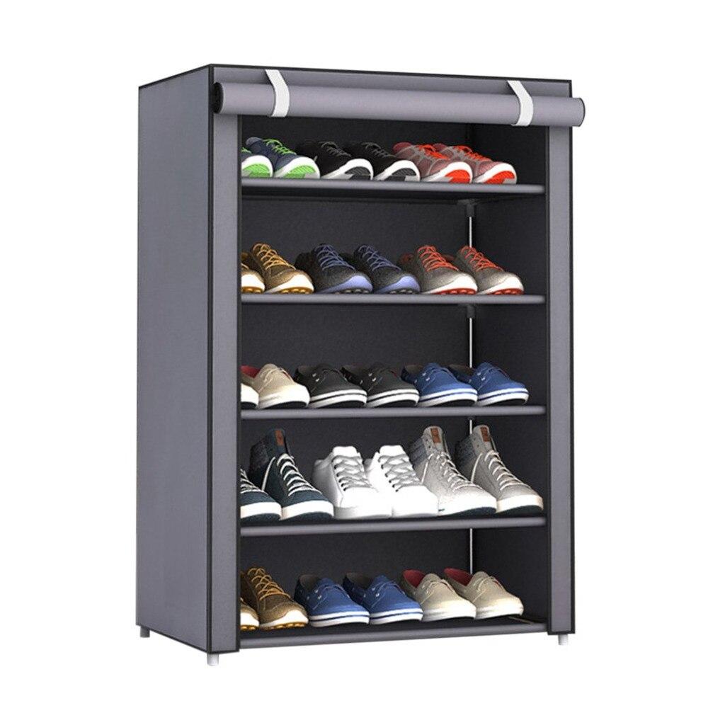 NAI YUE a prueba de polvo de gran tamaño de la tela no tejida de zapatos de Rack zapatos organizador casa dormitorio zapato estante del gabinete