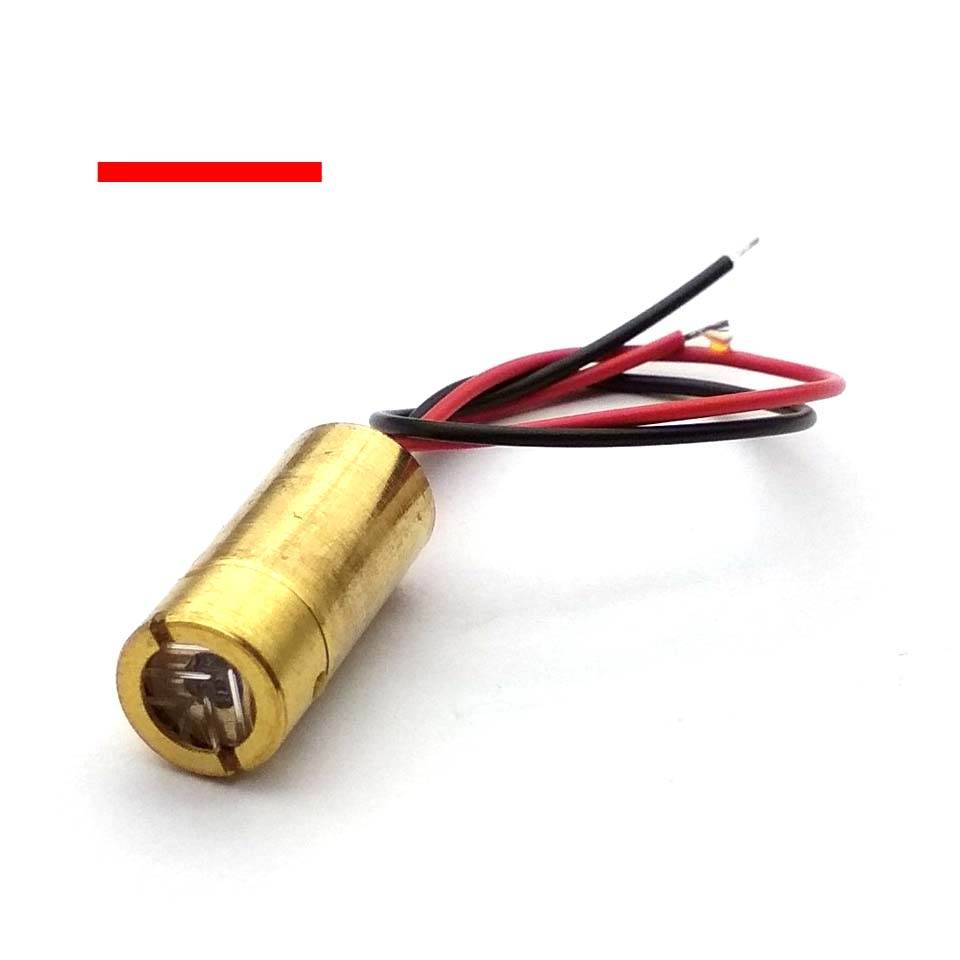 Laser Head 650nm 9mm 3V 50mW Laser Cross Diode Module Red Copper Head