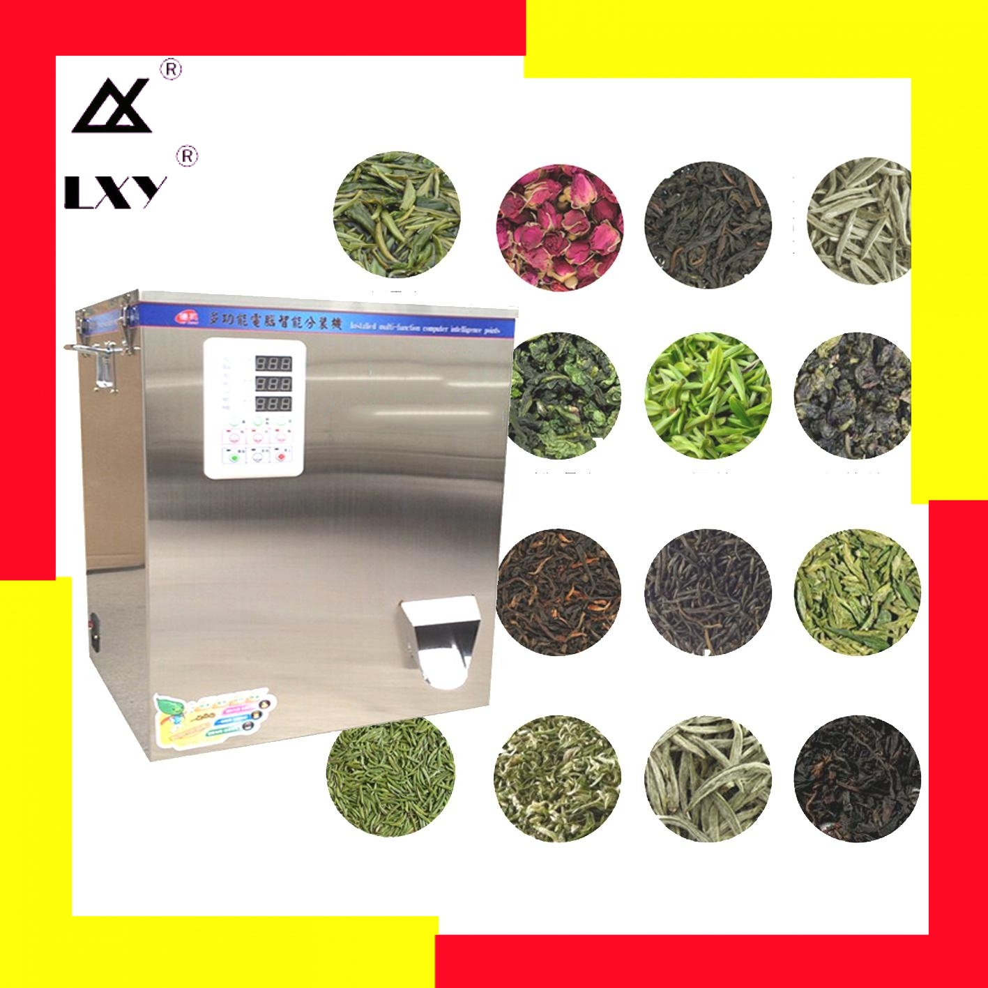25gAuger Spiral Type Herb Filling And Weighing Machine White Green Black Tea Leaf Medicinal Materials Racking Tea-leaves Filler